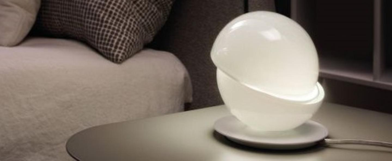 Lampe a poser aibu blanc led o11 6cm h12 7cm axo light normal