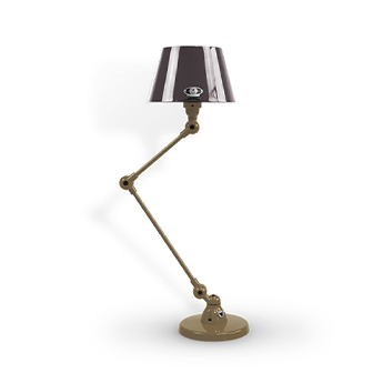 Lampe a poser aicler aid373 beige nacre et noir o16cm h70cm jielde normal