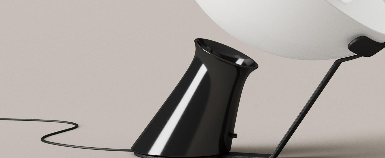 Lampe a poser aida blanc o41cm h61cm karakter normal