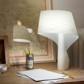 Lampe a poser air blanc ivoire h49cm lzf normal