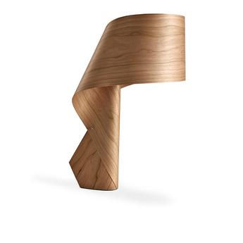 Lampe a poser air bois naturel de cerisier h49cm lzf normal