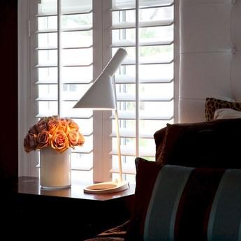 Lampe a poser aj blanc l21 5cm h56cm louis poulsen normal
