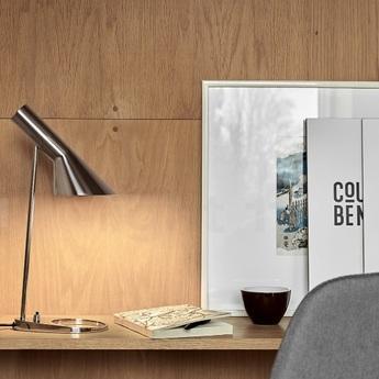 Lampe a poser aj mini acier poli l18 3cm h43 3cm louis poulsen normal