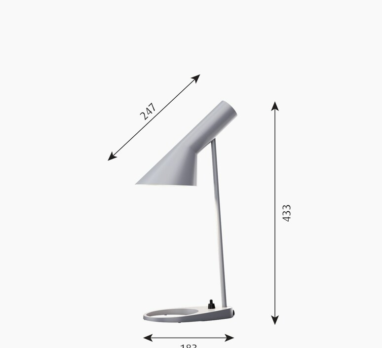 Aj mini arne jacobsen lampe a poser table lamp  louis poulsen 5744166988  design signed nedgis 88189 product