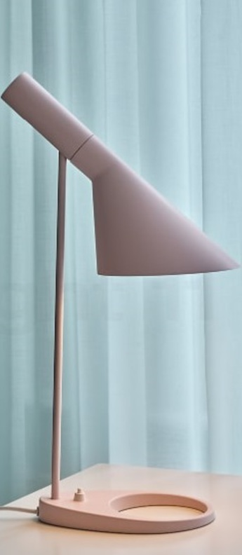 Lampe a poser aj mini rose pale l18 3cm h43 3cm louis poulsen normal