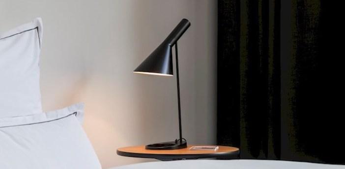 Lampe a poser aj noir l21 5cm h56cm louis poulsen normal