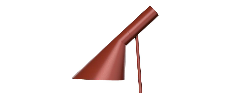 Lampe a poser aj rouge l21 5cm h56cm louis poulsen normal