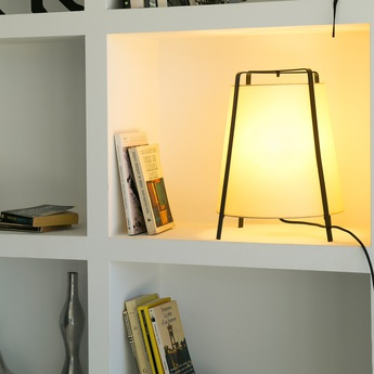 Lampe a poser akane beige h35cm faro normal