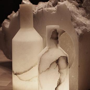 Lampe a poser alabast albatre ip66led 3000k 290lm o14cm h39cm carpyen normal