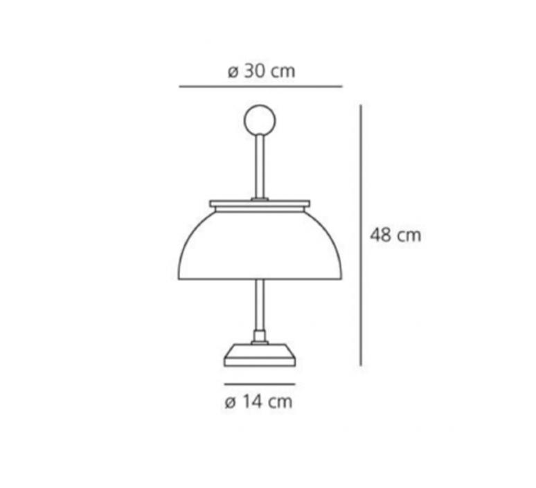 Alfa sergio mazza lampe a poser table lamp  artemide 0026010a  design signed nedgis 75537 product