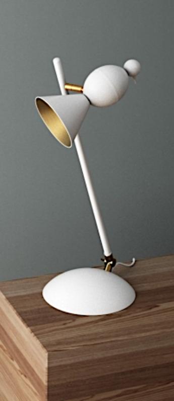 Lampe a poser alouette desk slanted blanc or ocm h61cm atelier areti normal