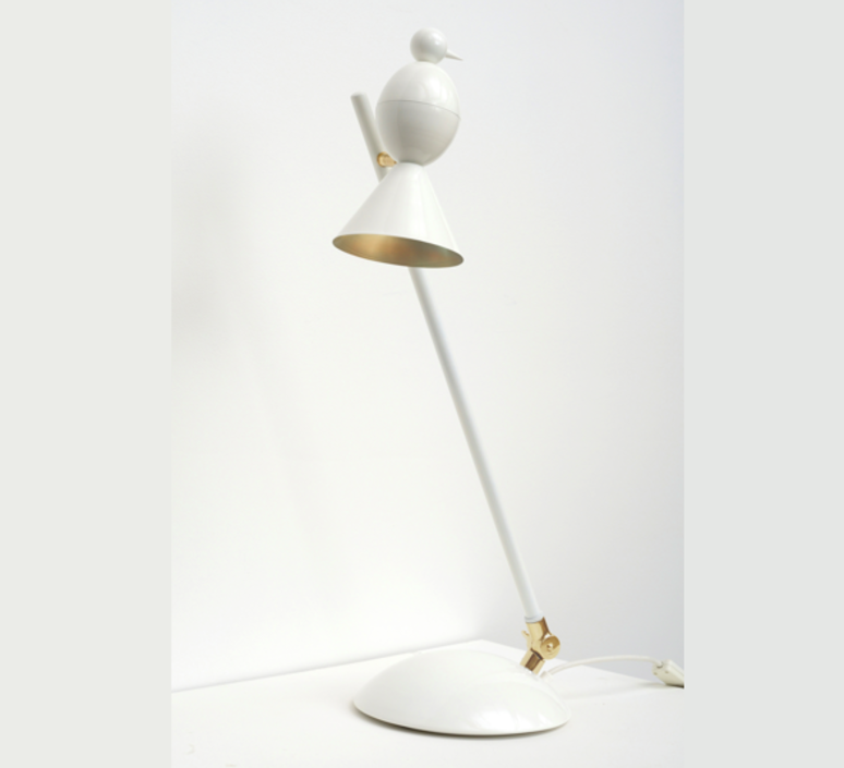 Alouette desk slanted gwendolyn et guillane kerschbaumer lampe a poser table lamp  atelier areti  alouette desk slanted brass white  design signed 35911 product