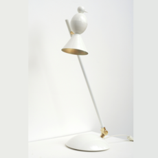 Alouette desk slanted gwendolyn et guillane kerschbaumer lampe a poser table lamp  atelier areti  alouette desk slanted brass white  design signed 35911 thumb
