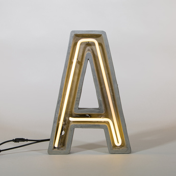 Lampe a poser alphacrete a gris blanc cm h40cm seletti normal