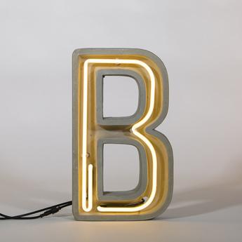 Lampe a poser alphacrete b gris blanc cm h40cm seletti normal
