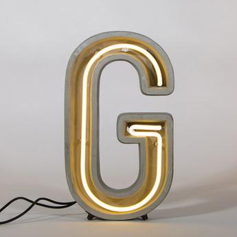 Lampe a poser alphacrete g gris blanc cm h40cm seletti normal