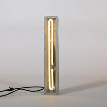 Lampe a poser alphacrete i gris blanc cm h40cm seletti normal