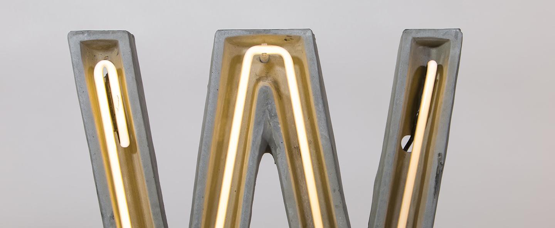 Lampe a poser alphacrete w gris blanc cm h40cm seletti normal
