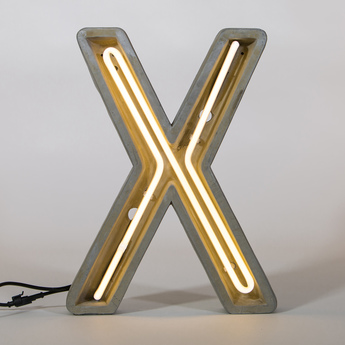 Lampe a poser alphacrete x gris blanc cm h40cm seletti normal