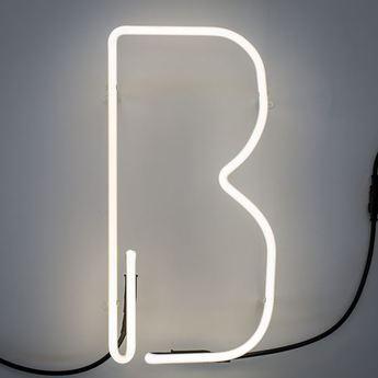 Lampe a poser alphafont b blanc l15 7cm h35cm seletti normal