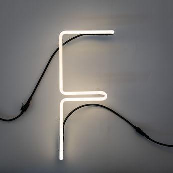 Lampe a poser alphafont f blanc l15 7cm h35cm seletti normal