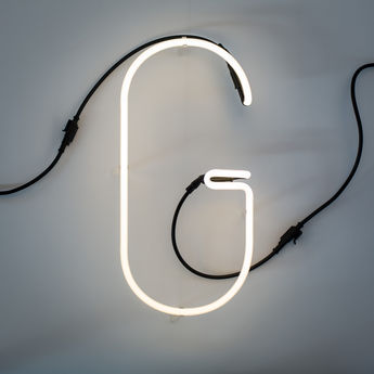 Lampe a poser alphafont g blanc l15 7cm h35cm seletti normal