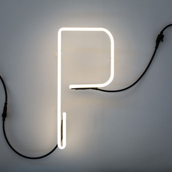 Lampe a poser alphafont p blanc l15 7cm h35cm seletti normal