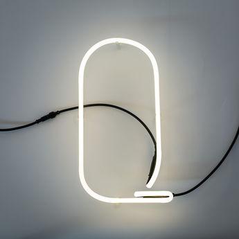 Lampe a poser alphafont q blanc l15 7cm h35cm seletti normal