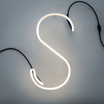 Lampe a poser alphafont s blanc l15 7cm h35cm seletti normal