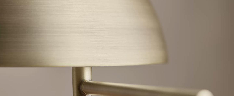 Lampe a poser aluna laiton o27cm h42 6cm bolia normal
