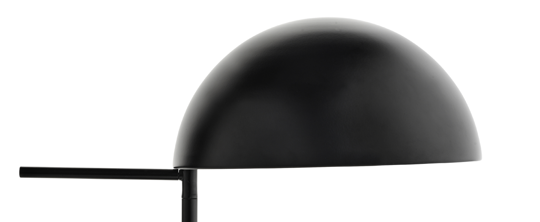 Lampe a poser aluna noir o27cm h42 6cm bolia normal