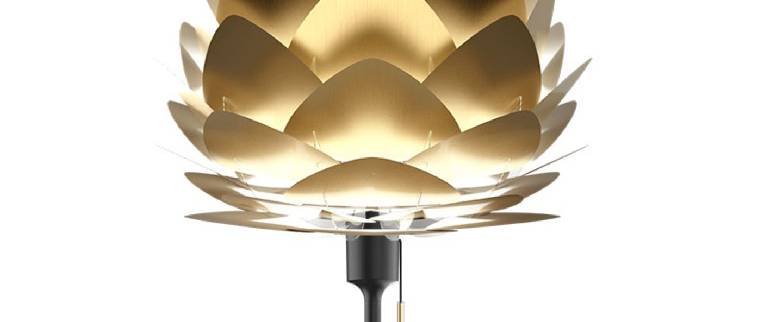 Lampe a poser aluvia brushed brass mini laiton noir o40cm h72cm umage normal
