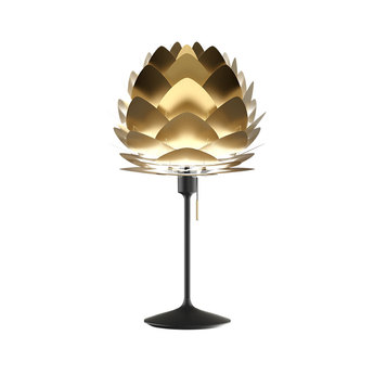 Lampe a poser aluvia brushed brass mini laiton noir o40cm h72cm umage normal