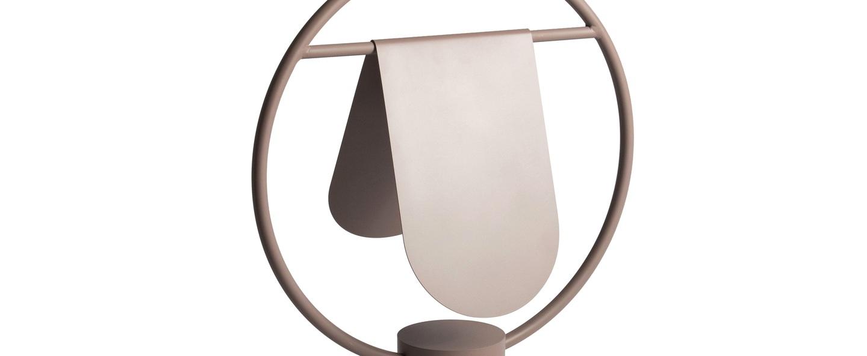 Lampe a poser anae bois de rose o36cm h52cm harto normal