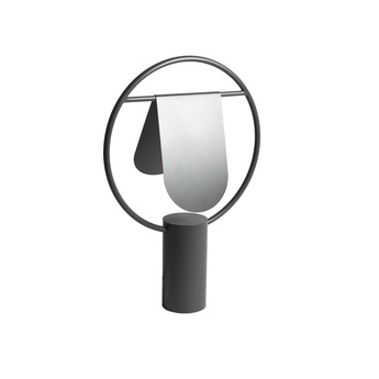Lampe a poser anae gris ardoise o36cm h52cm harto normal