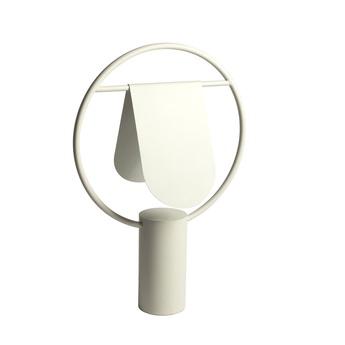 Lampe a poser anae ivoire o36cm h52cm harto normal
