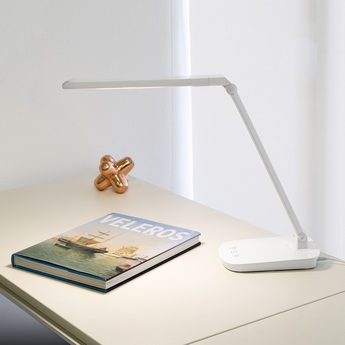Lampe a poser anouk led blanc led 4000k 530lm l13 5cm h40cm faro normal