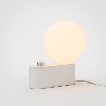 Lampe a poser applique murale alumina blanc l22cm h24cm tala normal