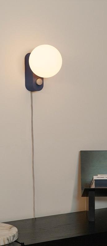 Lampe a poser applique murale alumina saphir l22cm h24cm tala normal