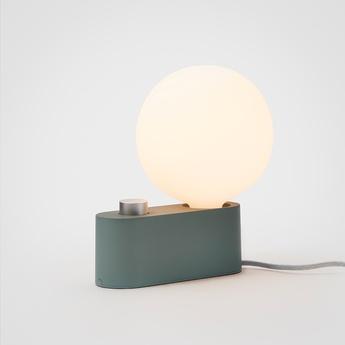Lampe a poser applique murale alumina vert l22cm h24cm tala normal