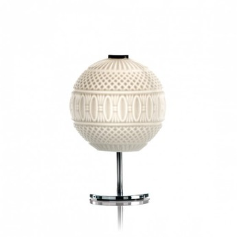 Lampe a poser arabesque blanc o22cm h33cm mm lampadari normal