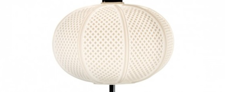 Lampe a poser arabesque blanc o30cm h33cm mm lampadari normal