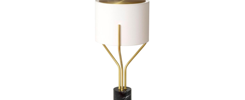 Lampe a poser arborescence xl blanc et laiton o40cm h80cm cvl normal