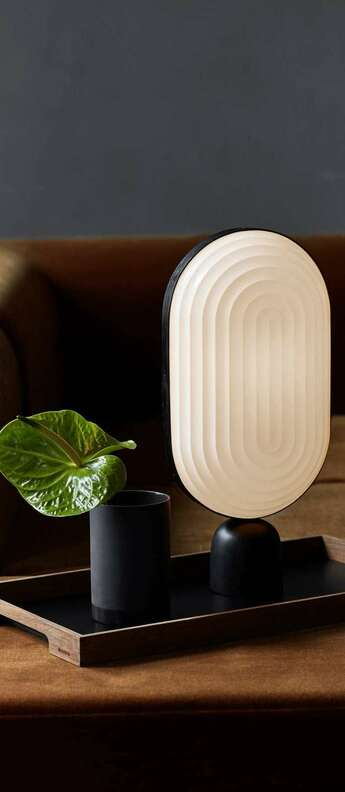 Lampe a poser arc blanc led o11cm h40cm le klint normal