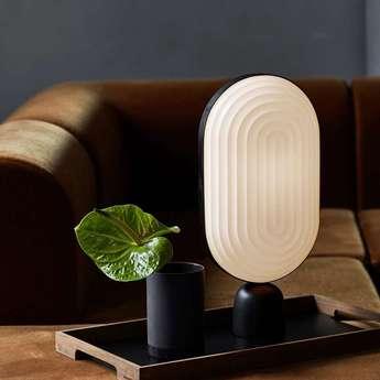 Lampe a poser arc blanc led o11cm h40cm le klint normal