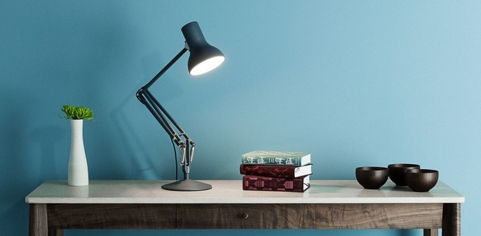 Lampe a poser architecte type 75 mini noir led o17cm h30cm anglepoise normal