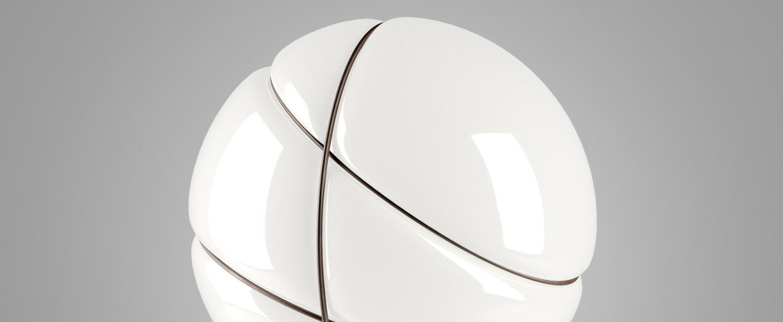 Lampe a poser armilla bruni blanc bruni o39cm h39cm fabbian normal