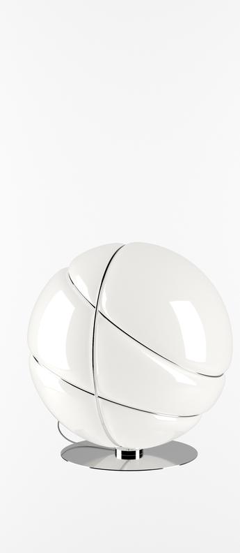 Lampe a poser armilla chrome blanc chrome o39cm h39cm fabbian normal