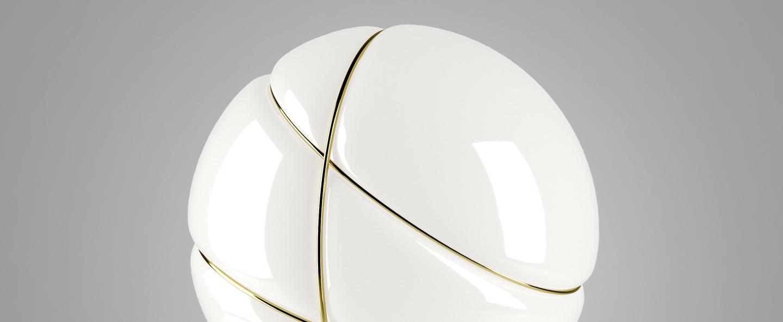 Lampe a poser armilla dore blanc dore o39cm h39cm fabbian normal