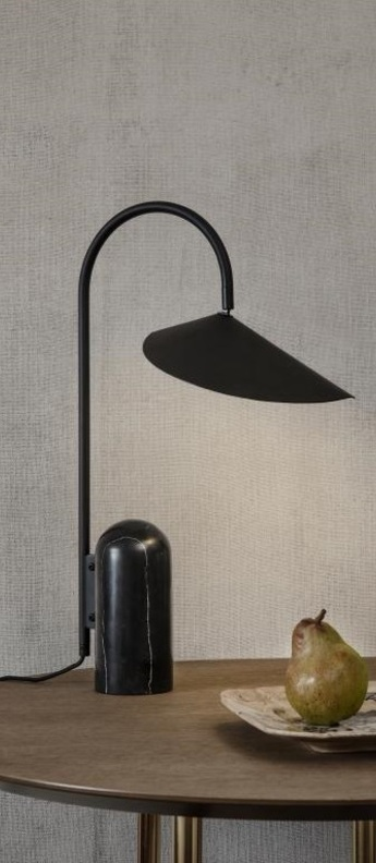Lampe a poser arum table lamp noir l20 5cm h51cm ferm living normal
